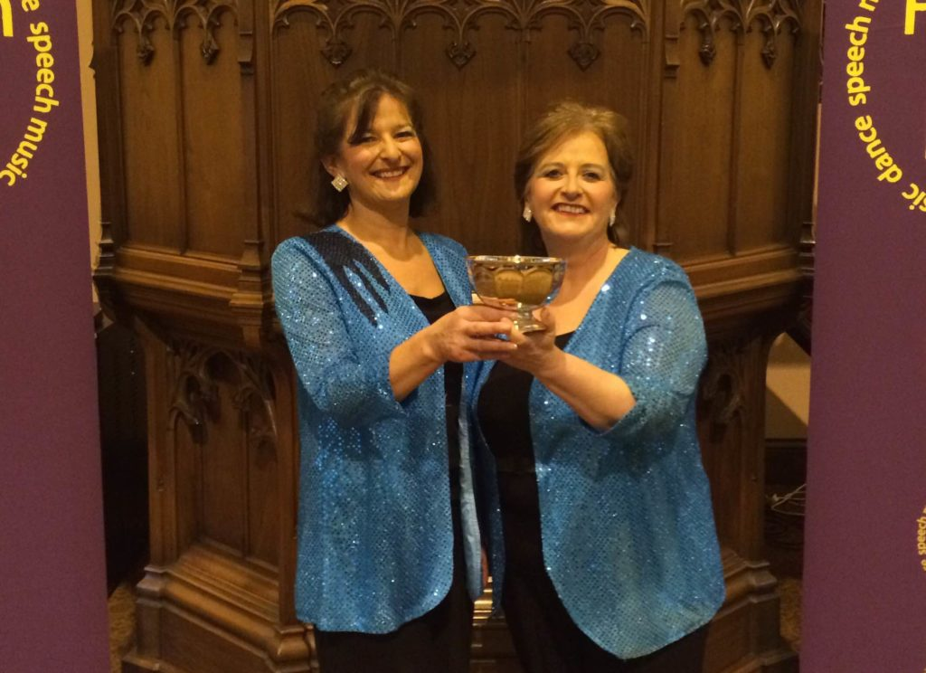 Hillfoot Harmony, Dollar, winners of the Perthshire Church Union Rosebowl for Female Choirs
